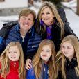 Le roi Willem-Alexander, la reine Maxima, la princesse Ariane, la princesse Alexia et la princesse Catharina-Amalia - Rendez-vous avec la famille royale des Pays-Bas à Lech. Le 27 février 2017 27/02/2017 - Lech