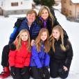Le roi Willem-Alexander, la reine Maxima, la princesse Ariane, la princesse Alexia, la princesse Catharina-Amalia - Rendez-vous avec la famille royale des Pays-Bas à Lech. le 27 février 2017 27/02/2017 - Lech