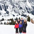 La reine Maxima, le roi Willem-Alexander, la princesse Ariane, la princesse Alexia, la princesse Catharina-Amalia - Rendez-vous avec la famille royale des Pays-Bas à Lech. le 27 février 2017 27/02/2017 - Lech