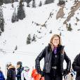 La reine Maxima, la princesse Catharina-Amalia, la princesse Ariane, la princesse Alexia et le roi Willem-Alexander - Rendez-vous avec la famille royale des Pays-Bas à Lech. Le 27 février 2017 27/02/2017 - Lech