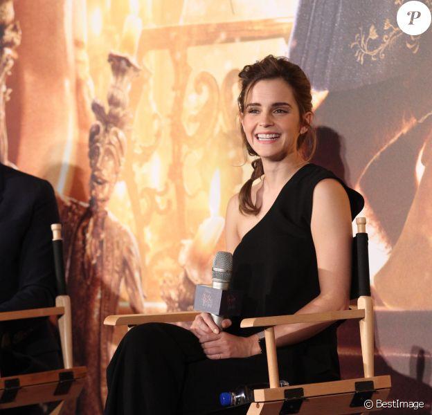 Emma Watson faiit la promotion de son nouveau film La Belle et la Bête à Shanghai en Chine, le 28 février 2017 © TPG via Zuma/Bestimage