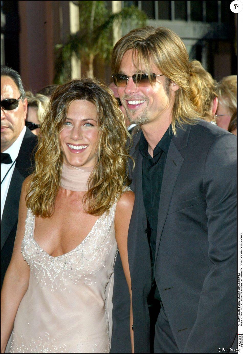 Jennifer Aniston Et Brad Pitt Aux Emmy Awards Los Angeles Le 23
