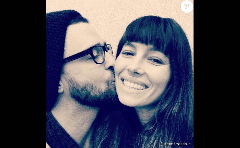 Justin Timberlake fête l'anniversaire de sa femme Jessica Biel sur Instagram, le 3 mars 2017
