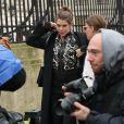 """Charlotte Casiraghi et Juliette Dol à l'issue du défilé de mode prêt-à-porter automne-hiver 2017/2018 """"Giambattsita Valli"""" à Paris. Le 6 mars 2017."""