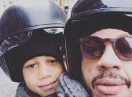 JoeyStarr : Virées en scooter avec ses adorables fils, casqués et stylés
