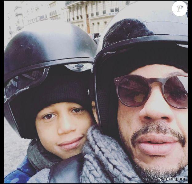 JoeyStarr et son fils Khalil (9 ans) sur une photo publiée sur Instagram le 6 mars 2017