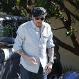 "Johnny Hallyday, arrive au restaurant ""Soho House"" à Malibu, le 09 mars 2017."