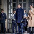 Céremonie en l'honneur de la princesse Victoria de Suède le jour de la Sainte Victoria au palais Royal en présence de son mari le prince Daniel de Suède et de la princesse Estelle à Stockholm le 12 mars 201712/03/2017 - Stockholm