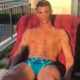 Cristiano Ronaldo et ses abdos OKLM le 10 mars 2017, photo Instagram