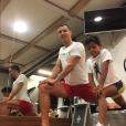 Cristiano Ronaldo et son fils Cristiano Ronaldo Jr. en plein entraînement, photo Instagram décembre 2016.