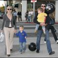 Sharon Stone avec ses fils Laird et Quinn, et son toy boy Chase Dreyfous