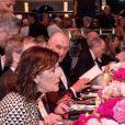 La princesse Caroline de Hanovre et Karl Lagerfeld - 63ème Bal de la Rose sur le thème de la Sécession Viennoise, imaginé par K.Lagerfeld au profit de la Fondation Princesse Grace dans la Salle des Etoiles au Sporting Monte Carlo à Monaco, le 18 mars 2017. © Gaetan Luci / Palais Princier / SBM via Bestimage