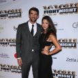 Michael Phelps et sa fiancée Nicole Johnson à la soirée Human Rights Campaign au JW Marriott à Los Angeles, le 18 mars 2017 © AdMedia via Zuma/Bestimage