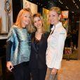 """Caroline Faindt, Tristane Banon et Claire Verneil lors de la soirée des """"Femmes de talent"""" à la boutique Apostrophe à Paris, France, le 21 mars 2017."""