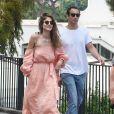 Elisa Sednaoui et son mari Alex Dellal à Capri en Italie le 10 juin 2016.