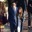 Elisa Sednaoui et son mari Alex Dellal au mariage de Giovanna Battaglia et Oscar Engelbert à Capri, le 10 juin 2016.