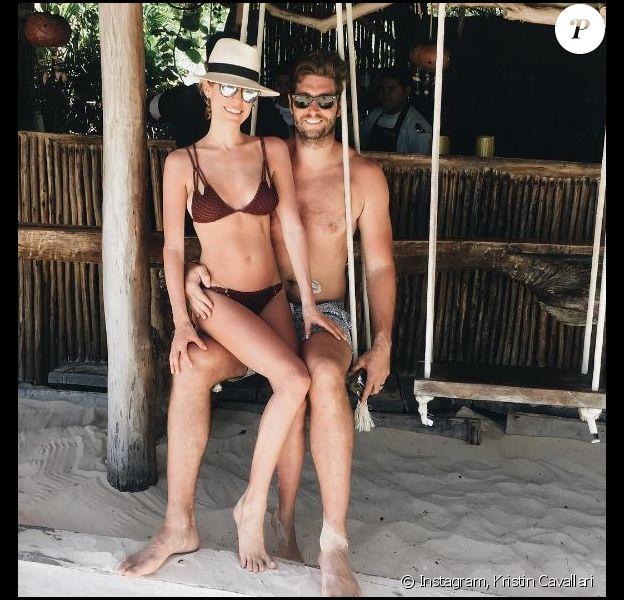 Jay Cutler et sa femme Kristin Cavallari en vacances au Mexqiue. Mars 2017