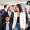 Cérémonie à l'aéroport de Madeire rebaptisé aéroport Cristiano Ronaldo, en présence du footballeur portugais, de son fils Cristiano Jr et de sa compagne Georgina Rodriguez, à Madeire, le 29 mars 2017.