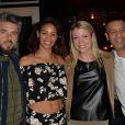 """Anthony Dupray, Alicia Fall, Claire Verneil et Cartouche - Soirée d'ouverture du restaurant """"Ikone"""" à Paris le 30 mars 2017."""