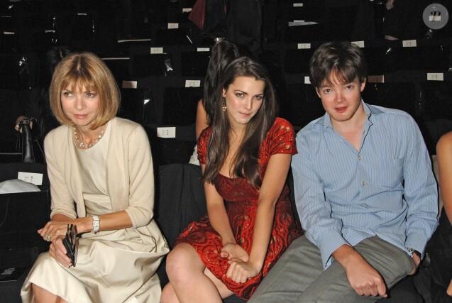 Anna Wintour et ses enfants Bee et Charles Shaffer lors de la Fashion Week à New York, le 16 septembre 2016