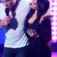 John Cena et Nikki Bella, ici lors des Nickelodeon Kids' Choice Awards 2017 le 11 mars 2017 à Los Angeles, se sont fiancés sur le ring lors de WrestleMania 33, le 2 avril 2017 à Orlando en Floride.