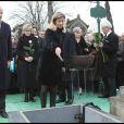 Brice Hortefeux et sa femme aux obsèques de Georges Cravenne
