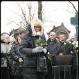 Mireille Darc aux obsèques de Georges Cravenne