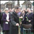 Philippe Douste-Blazy et Paul Wermus aux obsèques de Georges Cravenne