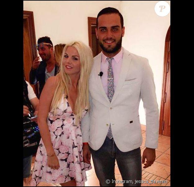 """Jessica et Nikola sur le tournage des """"Marseillais et les Ch'tis VS Le reste du monde"""", sur Instagram, septembre 2016"""