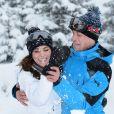 Le prince William et la duchesse Catherine de Cambridge le 3 mars 2016 lors d'un week-end dans les Alpes.
