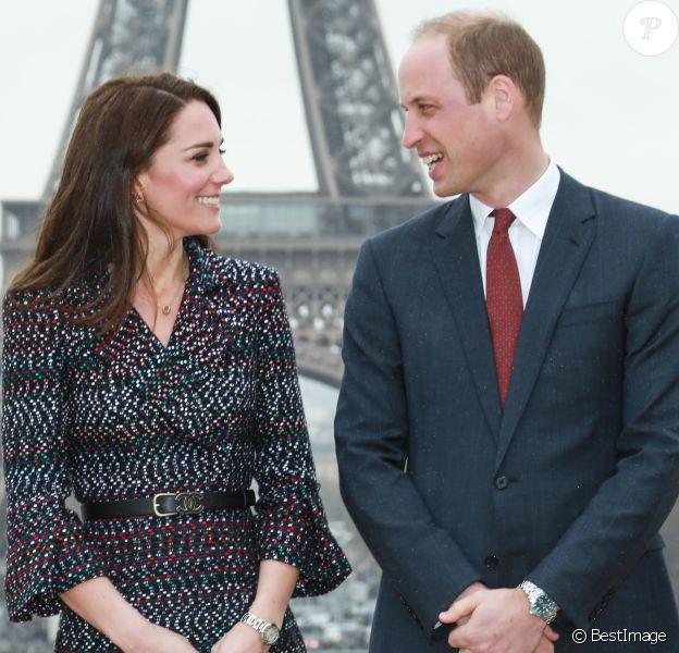 Kate Middleton et le prince William, duc et duchesse de Cambridge, à Paris le 18 mars 2017.