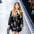 """Thylane Blondeau - Défilé de mode prêt-à-porter automne-hiver 2017/2018 """"Dolce & Gabbana"""" à Milan. Le 26 février 2017."""