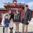 Le prince Joachim, la princesse Marie et leurs enfants, le prince Felix, le prince Henrik et la princesse Athena en visite à Legoland, Danemark le 19 Mars 2016.