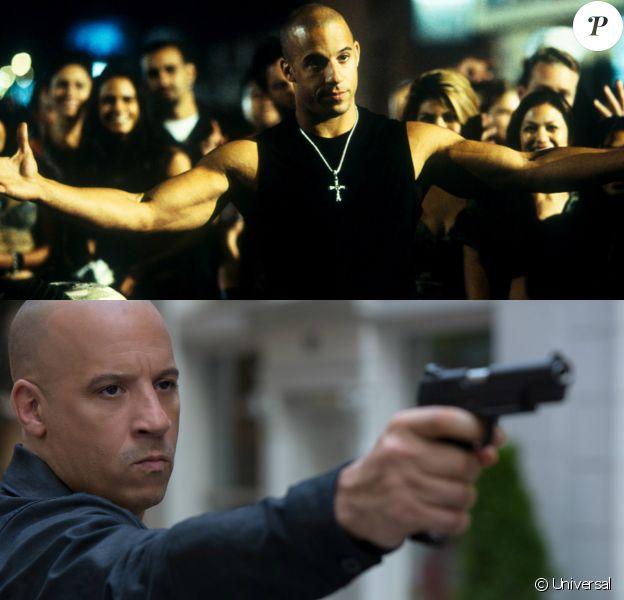 Vin Diesel entre le 1er opus et le 8e Fast & Furious