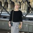 """Marina Foïs au défilé de mode """"Louis Vuitton"""", collection prêt-à-porter Automne-Hiver 2017-2018 au musée du Louvre à Paris, le 7 Mars 2017.© Olivier Borde/Bestimage"""