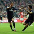 Cristiano Ronaldo lors du quart de finale aller de Ligue des Champions entre le Bayern Munich et le Real Madrid à l'Allianz Arena de Munich le 12 avril 2017.