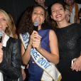 Sylvie Tellier, Alicia Aylies (Miss France 2017) et Marine Lorphelin (Miss France 2013) - Alicia Aylies (Miss France 2017) fête ses 19 ans au BAM Karaoke Box Richer à Paris le 18 avril 2017.