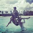 """""""Julien Castaldi en vacances avec sa mère et son frère à Punta Cana en République domincaine. Avril 2017."""""""