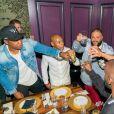 Jay Z, Tyran 'Ty Ty' Smith, DJ Khaled, Lenny Santiago et Terrence J - Dîner d'anniversaire de Lenny Santiago au Beauty & Essex à Los Angeles. Le 18 avril 2017.