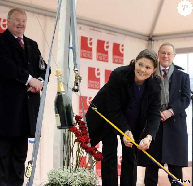 La princesse Victoria de Suède inaugure la centrale électrique Lillesjoverket