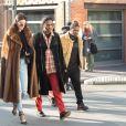 Kendall Jenner and A$AP Rocky auyx puces de Saint-Ouen le 22 janvier 2017.