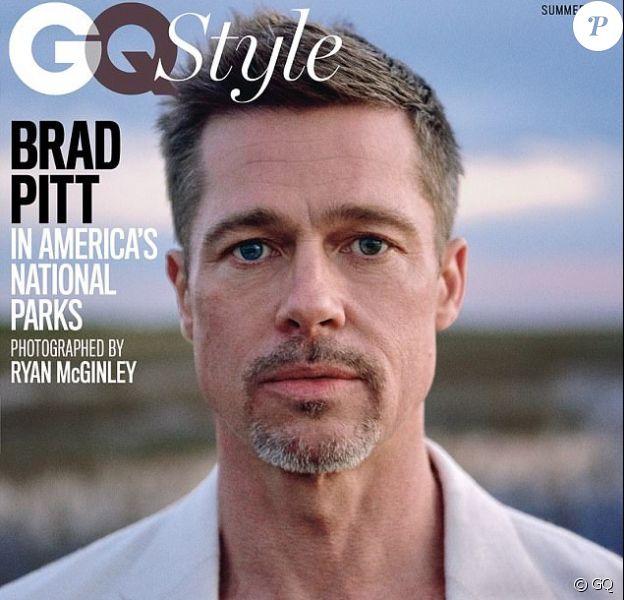 Brad Pitt en couverture du numéro d'été 2017 de GQ. Il a été photographié par Ryan McGinley.