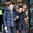 Claire Holt et son mari Matt Kaplan se baladent à Park City lors du Sundance Film Festival 2017 en Utah, le 20 janvier 2017