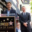 Joe Mantegna et Gary Sinise - Gary Sinise reçoit son étoile sur le Walk of Fame à Hollywood, le 17 avril 2017 © Chris Delmas/Bestimage