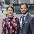 La princesse Sofia, enceinte, et le prince Carl Philip de Suède prenaient part le 7 mai 2017 au premier jour du 1er Forum mondial anti-harcèlement (World Anti-Bullying Forum) au Mall of Scandinavia à Stockholm.