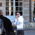 """Exclusif - Le footballeur français Mathieu Valbuena passe Noël à Bordeaux. Il a séjourné au """"Grand Hôtel de Bordeaux"""" afin de déguster la cuisine du célèbre chef anglais Gordon Ramsay, le 25 décembre 2015."""