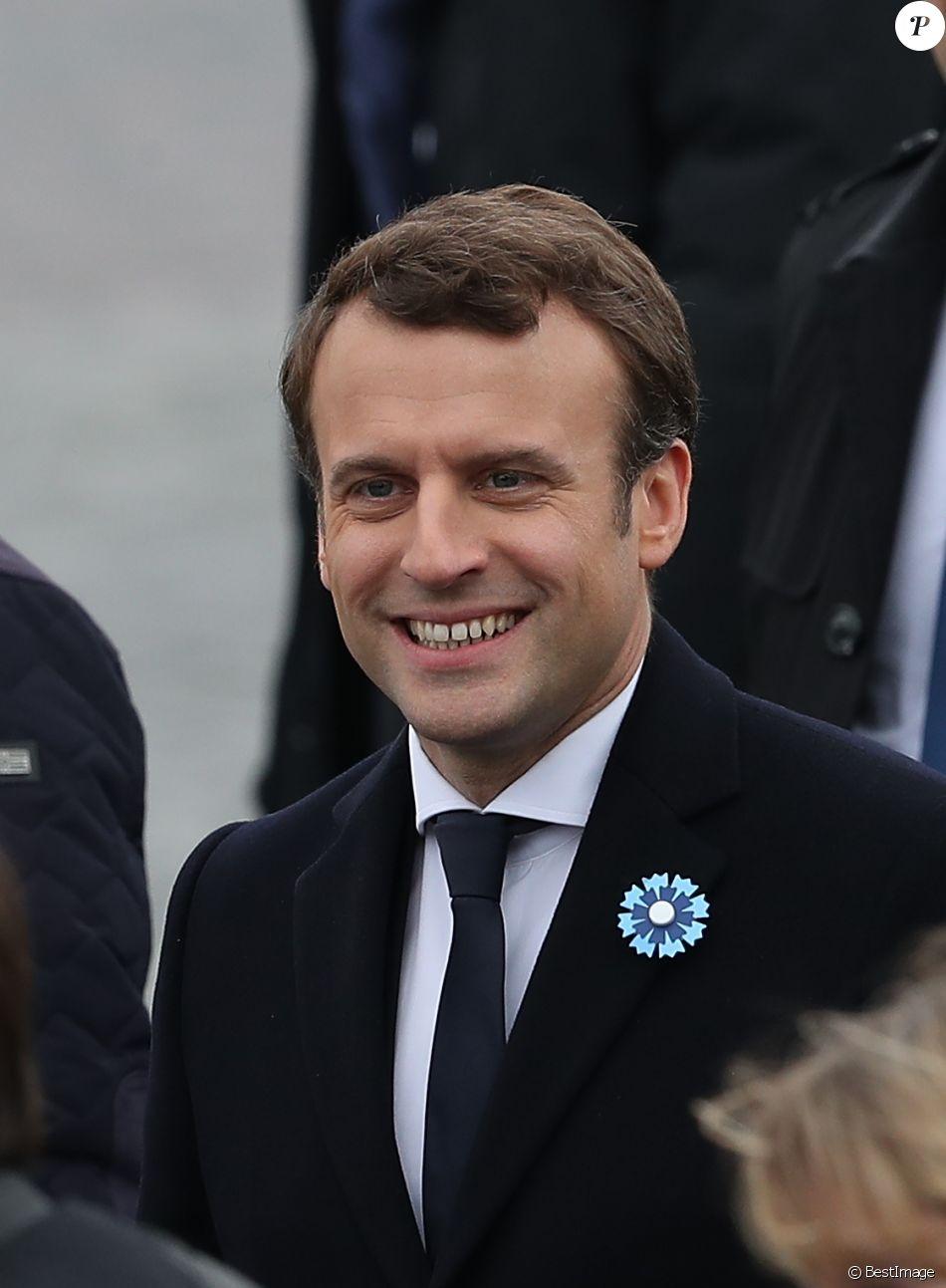 Le président-élu, Emmanuel Macron - Cérémonie de commémoration du 72ème anniversaire de la victoire du 8 mai 1945 devant la tombe du Soldat Inconnu à l'Arc de Triomphe à Paris le 8 mai 2017. © Cyril Moreau/Bestimage