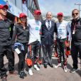La prince Albert II et le team Venturi, Richard Borfiga et les pilotes Stéphane Sarrazin et Maro Engel - Grand Prix de Formule E à Monaco le 13 mai 2017. © Michael Alesi / Bestimage