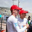 Maro Engel et le prince Albert II de Monaco - Grand Prix de Formule E à Monaco le 13 mai 2017. © Michael Alesi / Bestimage