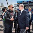 Richard Borfiga et le prince Albert II de Monaco - Grand Prix de Formule E à Monaco le 13 mai 2017. © Michael Alesi / Bestimage